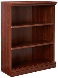 Sauder Premier 5 Shelf Composite Wood Bookcase Sauder Camden County 3 Shelf Bookcase Planked Cherry