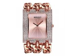 crystal bracelet watches images Weiqin luxury brand crystal gold bracelet watches women ladies jpg