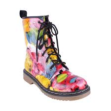 womens combat boots size 11 yoki topic 19 s lace up ankle combat boots multi color size