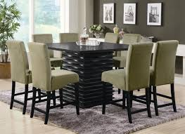 modern square dining table black modern dining table dining room