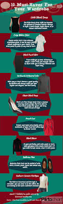 10 Must Haves For Your by Top 10 Must Haves For Your Wardrobe Infographics Fashion