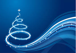 blue wave christmas tree background free photoshop brushes at