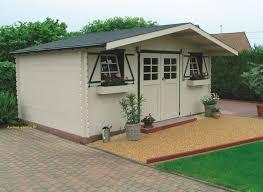 chalet a monter soi meme abri de jardin tecklenburg 3 chalet toit plat karibu 40mm achat