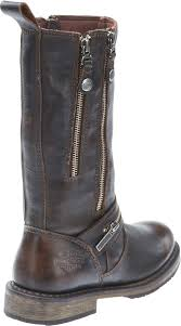 motorbike boots brown harley davidson women u0027s sackett 10 75 in leather motorcycle boots