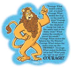 the cowardly lion courage by mengblom on deviantart