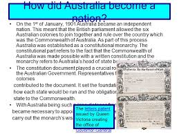 australia the of a nation why did australia become a