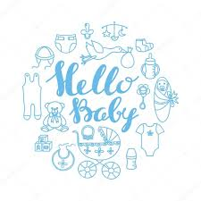 hello baby shower baby shower celebration greeting and invitation card template with