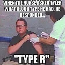meme type r blood