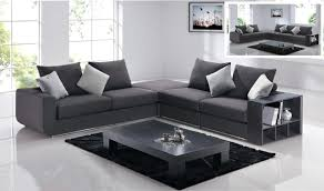 Gray Modern Sofa Amazing Sectional Sofa Design Charcoal Grey White Pillows Modern