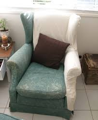 green chair slipcover living room white and green wing chair slipcover for modern living