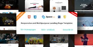 space multipurpose html5 landing page by crazycafe themeforest