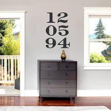 anniversary numbers wall decal