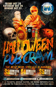 halloween pub crawl hoboken 2016 tickets hoboken bar u0026 grill