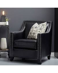 Black Leather Accent Chair Deals On Pulaski Faux Leather Studded Swoop