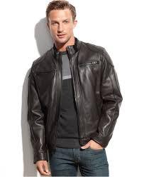 mens black leather motorcycle jacket calvin klein black leather jackets cairoamani com