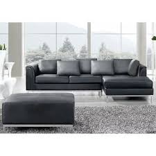 leather sofa free delivery shop for beliani oslo black modern sectional leather sofa with