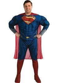 Superman Halloween Costumes Adults Size Deluxe Man Steel Superman Men Costume 53 99