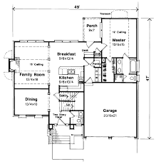 European Floor Plans European Style House Plan 4 Beds 2 5 Baths 2008 Sq Ft Plan 41