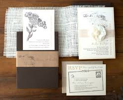 burlap wedding invitations as seen in the meryl streep move