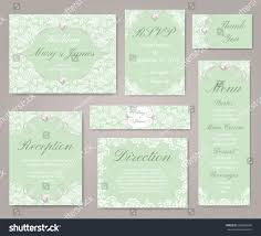wedding invitation cards lace decorations pearl stock vector