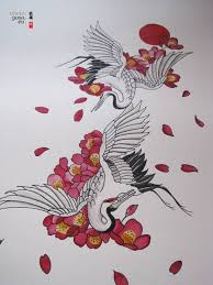 Flower And Bird Tattoo - 25 best crane tattoo ideas on pinterest crane meaning paper