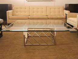 large glass coffee table large chrome and glass coffee table for sale at 1stdibs within