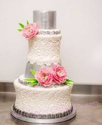 pink and silver wedding cakes wedding cake silver bling