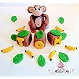 monkey cake topper edible large monkey cake topper decoration 4x2 co uk