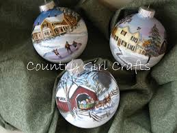 country crafts my handpainted glass ornaments