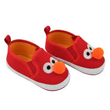 baby sesame street elmo crib shoes red target