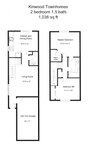 2 br 1 5 ba kinwood townhomes floor plan rental