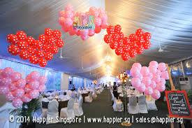 balloon decoration arches columns sculptures singapore
