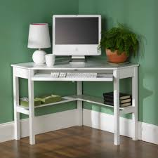 Compact Secretary Desk White Small Computer Desk Kids Compact Desktop Study Workstation