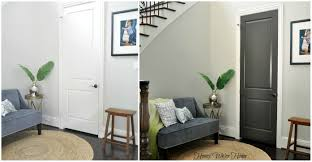 Painted Interior Doors Black Gray Painted Interior Doors Honey We Re Home