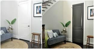 new interior doors for home black gray painted interior doors honey we re home