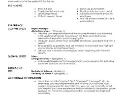 Reverse Chronological Order Resume Example by Perfect Resume Example Cv Resume Ideas