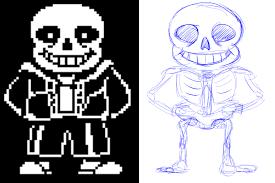 sans the skeleton u0027s skeleton sketch undertale