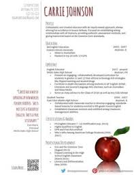 innovative ideas free resume templates for teachers neat design