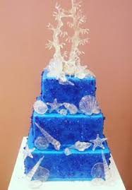 wedding cakes pictures blue wedding cakes with sea shell pictures