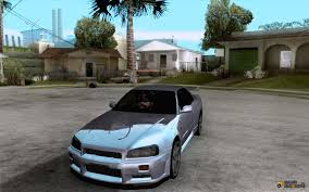 custom nissan skyline drift skyline r34 drift for gta san andreas