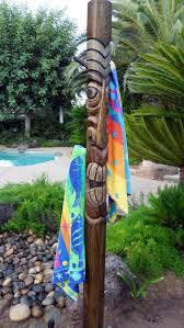 tiki towel rack outdoor towel rack 575 00 craft ideas