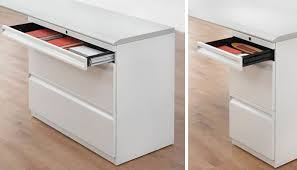 Desk With Filing Cabinet Drawer Calibre Storage System Knoll
