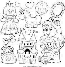fantasy vector clip art of lineart girls toys by visekart 260