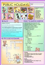 teaching worksheets holidays and traditions
