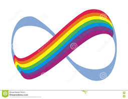infinity number rainbow and number 8 symbolizes infinity vector logo stock