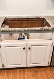 how to install farm sink in cabinet how to add an apron front sink to existing granite counters