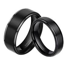 wedding rings tungsten wedding rings his and hers tungsten