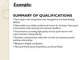 Examples Of A Summary For A Resume by Jan 15 2015 Developing A Professional Resume