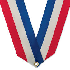 white and blue ribbon 5 8 rainbow or white blue neck