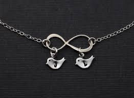 personalized silver gifts personalized silver infinity bird necklace s jewelry with